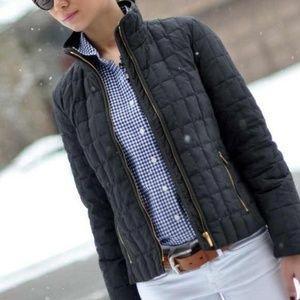 J. Crew Snowcap Black Quilted Puffer Jacket